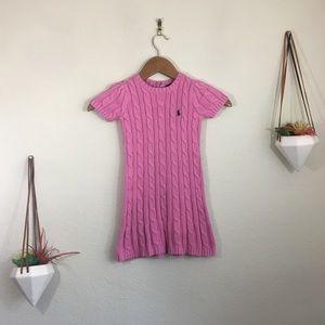 Ralph Lauren pink cable knit dress